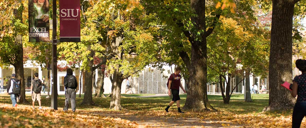 SIU Campus in the fall